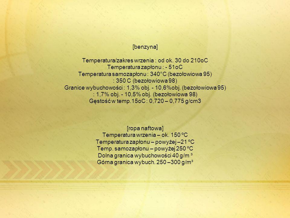 [benzyna] Temperatura/zakres wrzenia : od ok